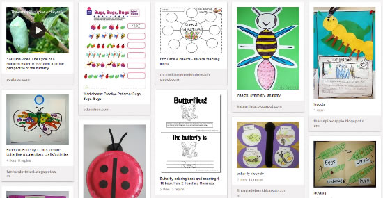 Insects Theme Activities & Teaching Ideas